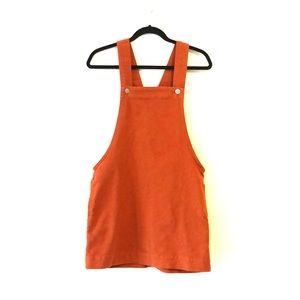 BDG Burnt Orange Overall Dress